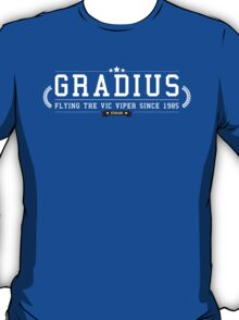 Gradius - Retro White Clean T-Shirt