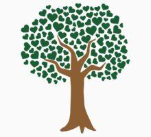 Love tree green hearts by Designzz