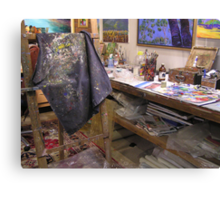 My playroom [arty work studio]partly[ the tidy part][joke] Canvas Print
