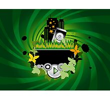 Green Music Background Photographic Print
