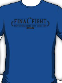 Final Fight - Retro Black Clean T-Shirt