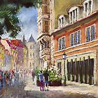 Germany Baden-Baden in pastel by Yuriy Shevchuk by Yuriy Shevchuk