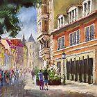 Germany Baden-Baden in pastel by Yuriy Shevchuk by Yuriy Shevchuk