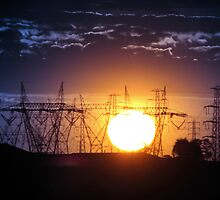 Electric Sunset by James Cole