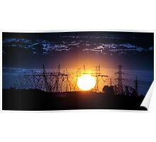Electric Sunset Poster