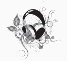 Floral Headphones by tandoor