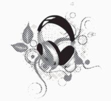 Floral Headphones by tandoor