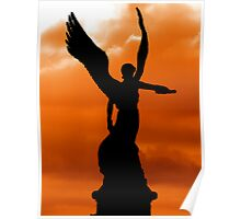 SUNSET ANGEL OF GREECE Poster