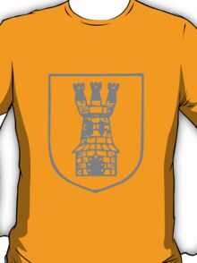 A Complete Guide to Heraldry - Figure 501 — Tower triple-towered T-Shirt