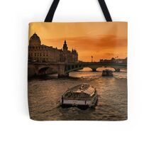 Sunset by the Seine. Tote Bag