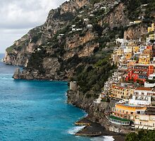 Cliffhouses of Positano by George Oze