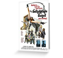 Switchblade Sisters Alt 2 (Pink) Greeting Card