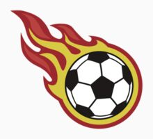 Soccer Ball On Fire Kids Clothes