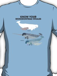 Know Your Monodontidae Whales T-Shirt