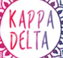 kappa delta medallion  Sticker