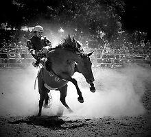 Rodeo Rider BW by Annette Blattman