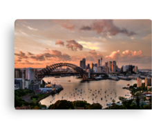 Sailors Warning -Sydney - Moods Of A City - The HDR Experience Canvas Print