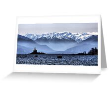 Olympic View Greeting Card