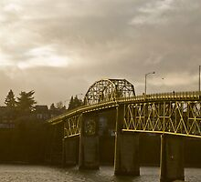 bremerton bridge at sunset by pmacimagery