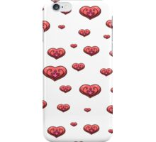 seamless pattern with volumetric hearts on the white background iPhone Case/Skin