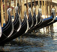 Gondolas at the Rialto by Jim Bachaud