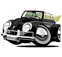 VW Beetle Convertible Cabriolet black Photographic Print