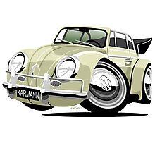 VW Beetle Convertible Cabriolet cream Photographic Print