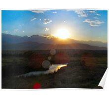 Owens River summer sunset Poster