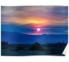 Socal fire sunset Poster