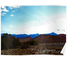 Sunet over the Alabama Hills Poster