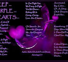 Deep...Purple... Hearts... by Amber Elizabeth Fromm Donais
