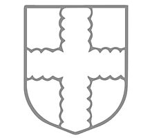 A Complete Guide to Heraldry - Figure 157 — Cross invecked Photographic Print
