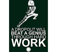 Rock Lee - A Dropout Will Beat A Genius Through Hard Work - White Photographic Print