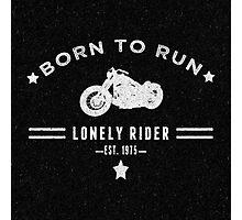 Vintage Biker Art Photographic Print