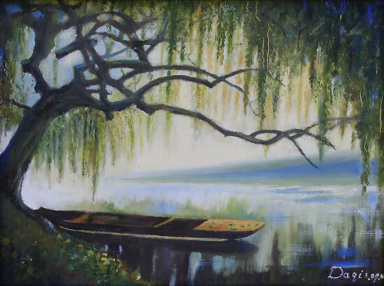 Willow Boat by Yi Wang