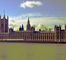Olde Houses of Parliament by Andrew Cryer