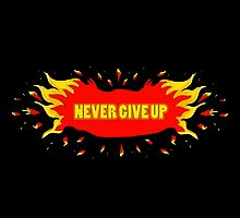 Never give up by Ann-Julia