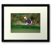 Justin Leonard - Hits Out of a Bunker Framed Print