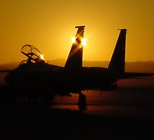 F-15 At Sunrise by cshphotos