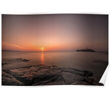 Lighthouse by Dusk Poster