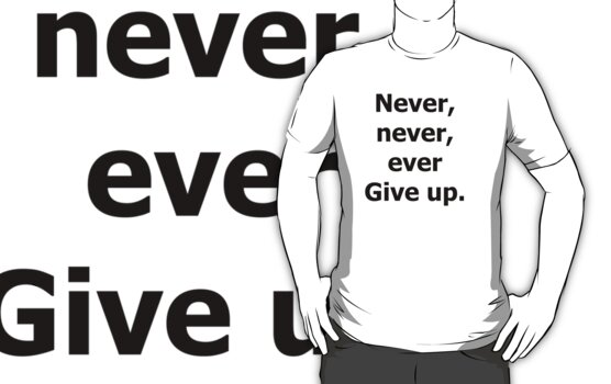 Never Give Up (black) by Maximus