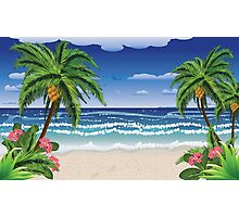 Beach and tropical sea Photographic Print