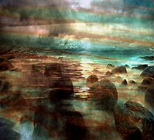 Atlantic Ocean. Evening.Color by Nellie Vin
