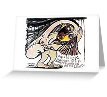 'DEPRESSION'  Greeting Card