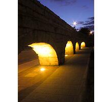 Aqueduct Silhouette Photographic Print