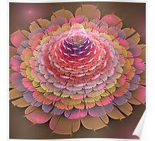 Dreamy fractal fantasy Trumpet flower Poster