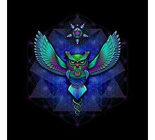 Sacred Geometry Owl Photographic Print