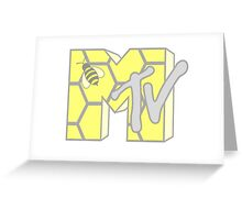 Mtv Logo - Honeycomb Greeting Card