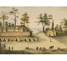 Soldiers in camp outside the fortified houses, Picolata, Florida Photographic Print