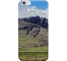 Tocile, country hill landscape from Sadu, Sibiu county, Romania iPhone Case/Skin